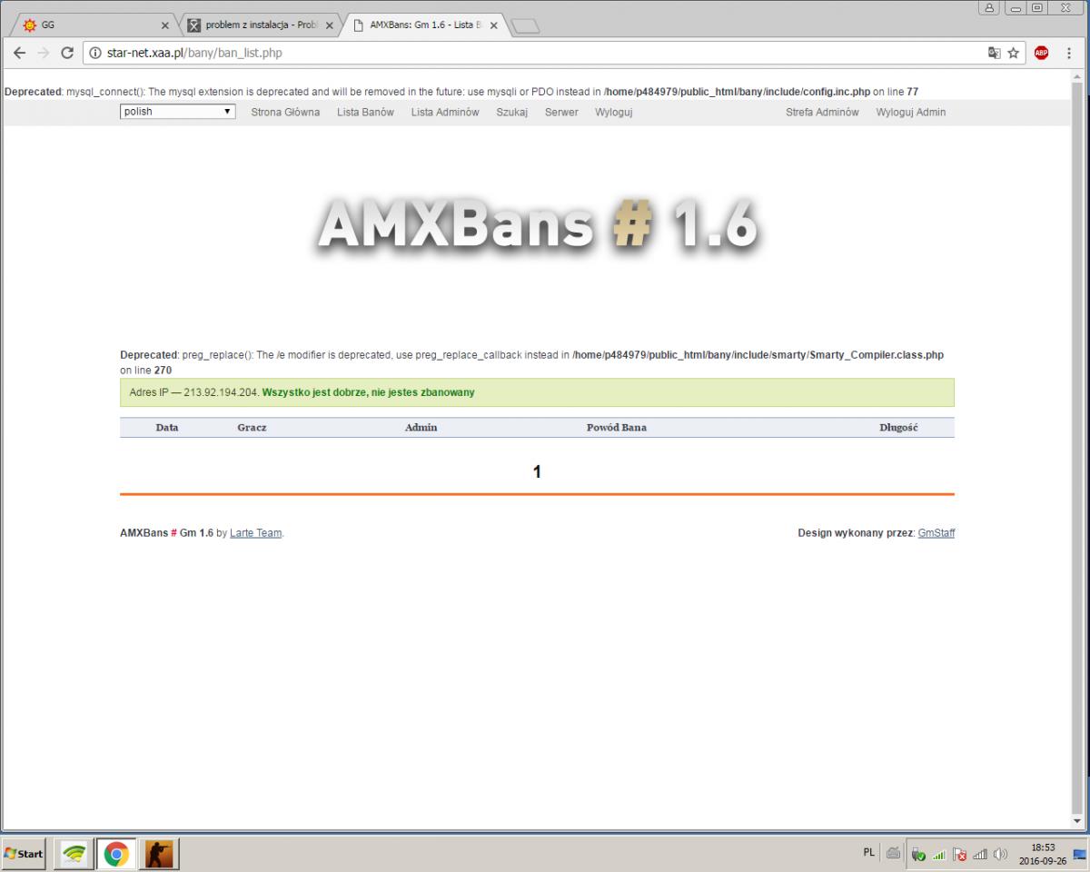 problem z instalacja - Problemy - AMXX pl: Support AMX Mod X